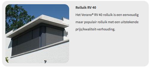 Verano Rolluik RV40