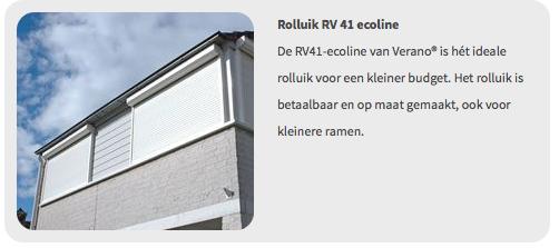 Verano rolluik Rv41 Ecoline